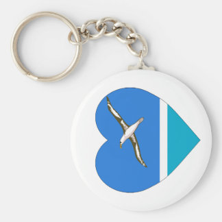Midway Islands Flag Heart Key Chain