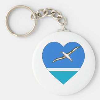 Midway Islands Flag Heart Keychain