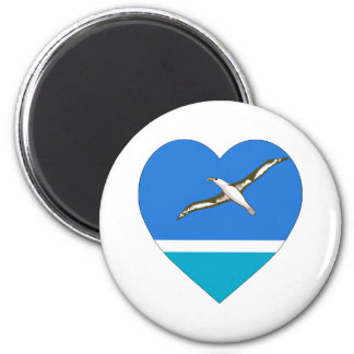 Midway Islands Flag Heart Magnets