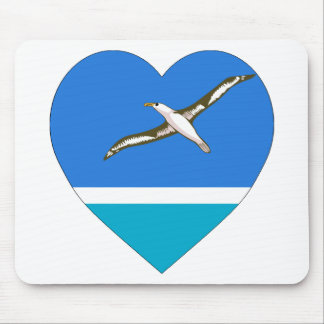 Midway Islands Flag Heart Mouse Mats