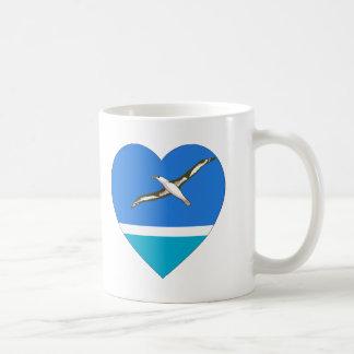 Midway Islands Flag Heart Coffee Mugs