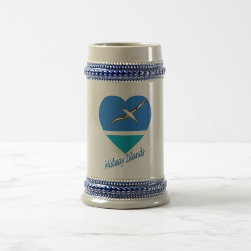 Midway Islands Flag Heart Coffee Mug