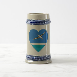 Midway Islands Flag Heart Coffee Mugs