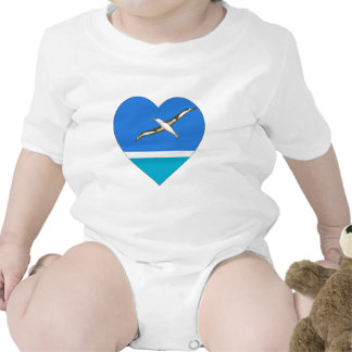 Midway Islands Flag Heart T-shirts