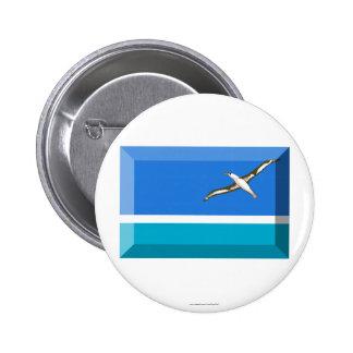 Midway Islands Flag Jewel 6 Cm Round Badge