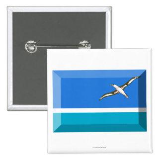 Midway Islands Flag Jewel 15 Cm Square Badge
