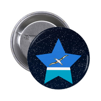 Midway Islands Flag Star In Space 6 Cm Round Badge