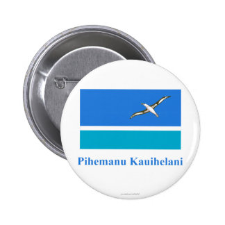 Midway Islands Flag with Name in Hawaiian Buttons