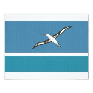 Midway Islands Local Flag 11 Cm X 14 Cm Invitation Card