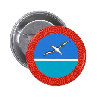 Midway Islands round flag 6 Cm Round Badge