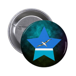 Midway Islands Star Design Flag 6 Cm Round Badge