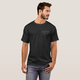 Midweek Blues Black Dog Grey on Black T-Shirt