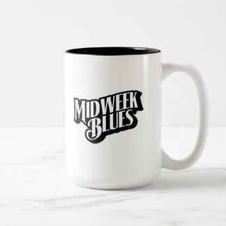 Midweek Blues logo 15 oz Two-Tone Mug