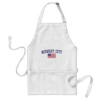 Midwest City US Flag Standard Apron