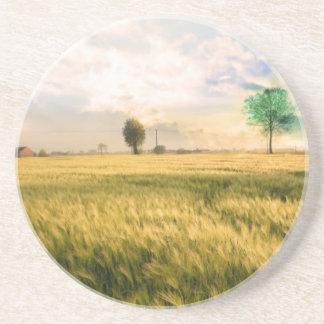 Midwest Field Painting Beverage Coasters