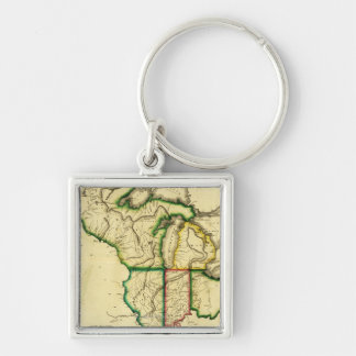 Midwest in the United StatesPanoramic Map Key Chain