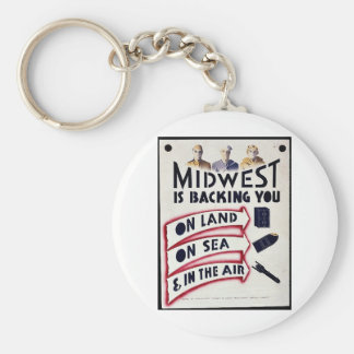 Midwest Is Backing You On Land On Sea In The Ai Key Chain