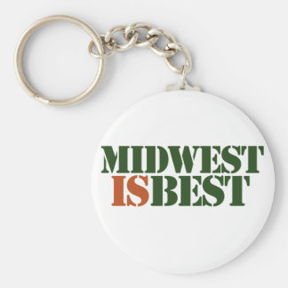 Midwest is Best Keychain