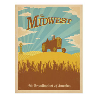 Midwest | The Breadbasket of America Postcard