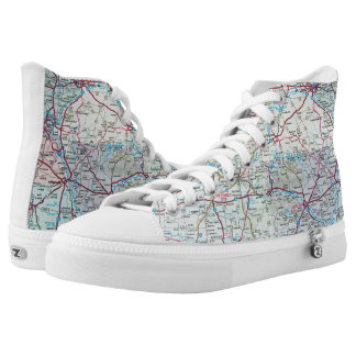 Midwest United States road map High Tops