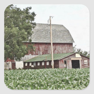Midwest Weathered Barn Farming Stickers