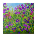 Midwestern Country Wildflowers Tile