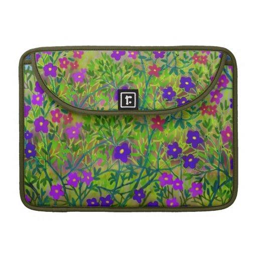 Midwestern Wildflowers Rickshaw Flap Sleeve MacBook Pro Sleeve
