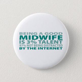 Midwife 3% Talent 6 Cm Round Badge