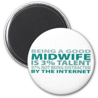 Midwife 3% Talent Fridge Magnet