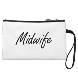 Midwife Artistic Job Design Wristlet Purses