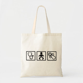 Midwife baby pacifier tote bag