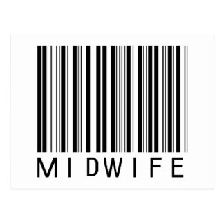 Midwife Bar Code Postcard