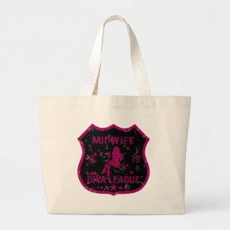 Midwife Diva League Large Tote Bag