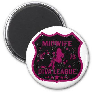 Midwife Diva League Magnet