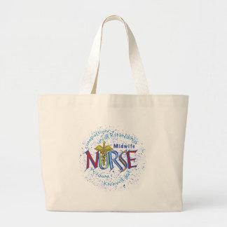 Midwife Nurse Motto Jumbo Tote Bag