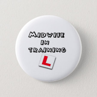 midwife training 6 cm round badge