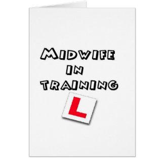 midwife training greeting card