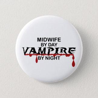 Midwife Vampire by Night 6 Cm Round Badge