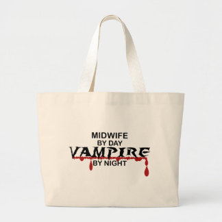 Midwife Vampire by Night Large Tote Bag