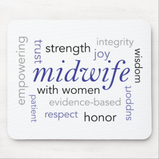 midwife word cloud mouse mat