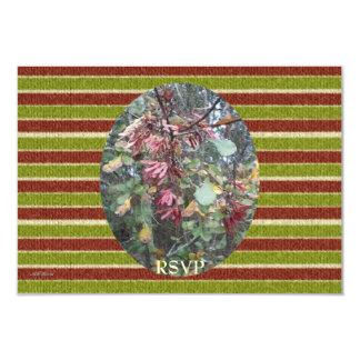 Midwinter Oak & Maple Birthday Stripes RSVP 3.5x5 Paper Invitation Card