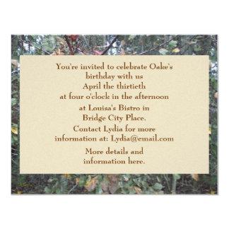 Midwinter Oak & Maple Botanical Birthday Personalized Invites