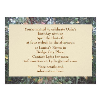 Midwinter Oak & Maple Botanical Birthday Custom Announcement