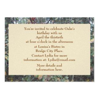 Midwinter Oak & Maple Botanical Birthday Custom Invites