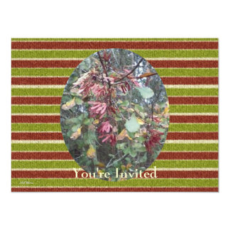 Midwinter Oak & Maple Botanical Birthday Stripes 6.5x8.75 Paper Invitation Card