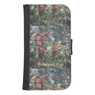 Midwinter Oak & Maple Botanical Natural Galaxy S4 Wallet Cases