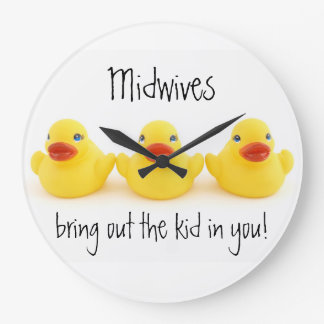 Midwives and Yellow Rubber Ducks Clock
