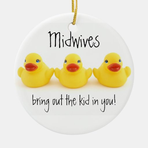 Midwives and Yellow Rubber Ducks Ornament
