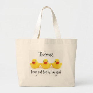 Midwives and Yellow Rubber Ducks Large Tote Bag
