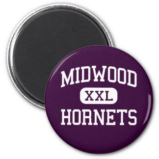 Midwood - Hornets - High - Brooklyn New York 6 Cm Round Magnet